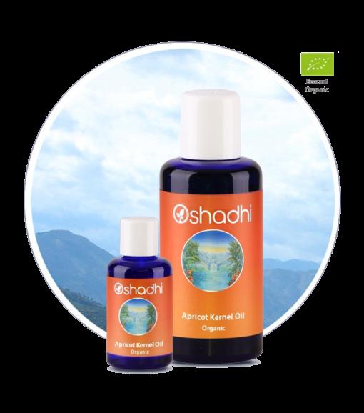 Aprikoskjerneolje økologisk Oshadhi