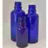 flaske glass blå