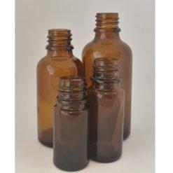 brun glassflaske