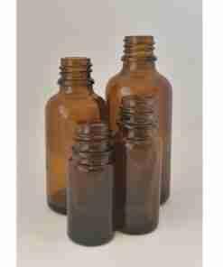 flaske brun glass