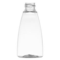 klar oval plastflaske