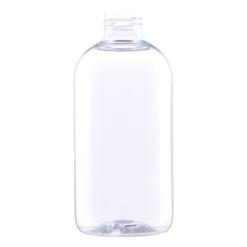 klar rund plastflaske
